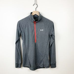 Under Armour | Heatgear Gray Quarter Zip Pullover